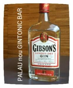 """GIBSON'S"" PALAU nou GINTONIC BAR"