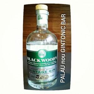 """BLACKWOOD VINTAGE GIN"" PALAU nou GINTONIC BAR"