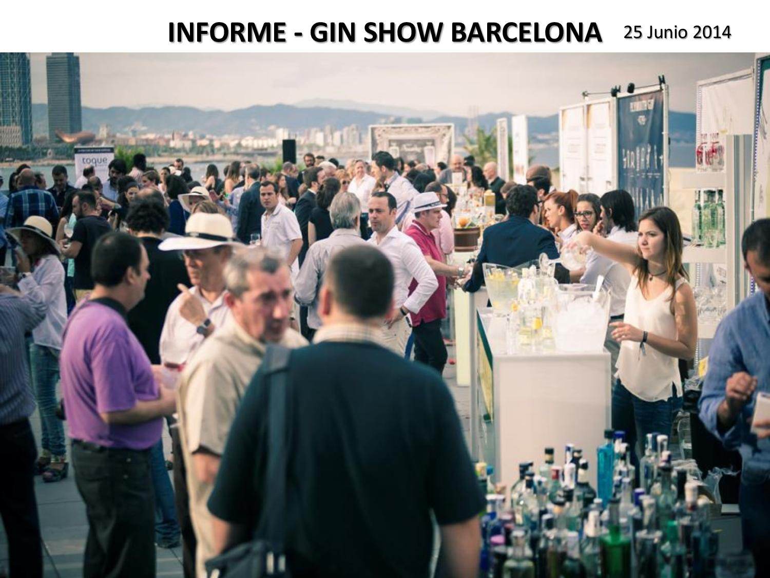 2014/06 Informe Gin Show 2014 Barcelona (Drinks Marketing Group)