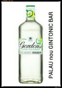 """GORDON'S CUCUMBER"" PALAU nou GINTONIC BAR"