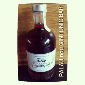 """EDINBURGH RASPBERRY GIN"" PALAU nou GINTONIC BAR"