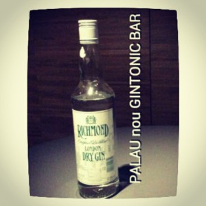 """RICHMOND LONDON DRY GIN"" PALAU nou GINTONIC BAR"