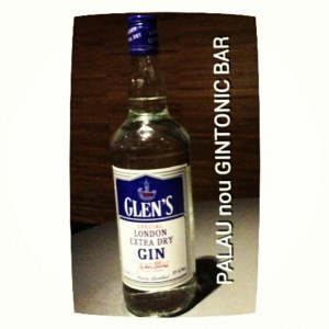 """GLEN'S LONDON EXTRA DRY"" PALAU nou GINTONIC BAR"